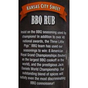Barbeque koření Three Little Pigs BBQ KC SWEET BBQ RUB (184g) - sladká pikantní chuť na žebra, vepřové a kuřecí maso.