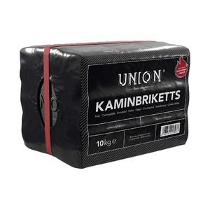 Krbové uhelné brikety UNION 10 kg - velmi kvalitní a ekologické brikety pro krbová kamna, krby a kotle na uhlí
