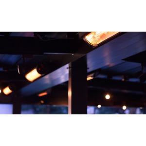 Elektrický karbonový zářič VEITO BLADE S 2500 BLACK - elegantní infrazářič s dálkovým ovládáním
