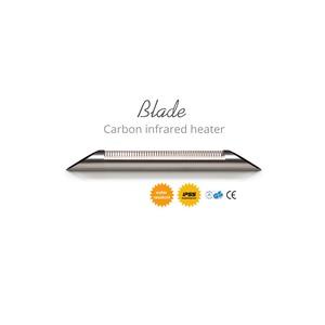 Elektrický karbonový zářič VEITO BLADE S 2500 SILVER - elegantní zářič na dálkové ovládání