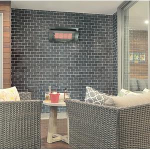 Nástěnný plynový tepelný zářič HEATSTRIP na zemní plyn - závěsné topidlo pro ohřev 16 m2