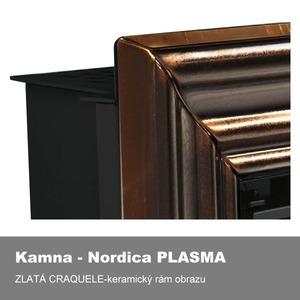 Designový závěsný krb Nordica PLASMA 80:26 - bez rámečku